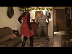 Ebony Goddess ballbusting trample and CBT http:\/\/clips4sale.com\/store\/424