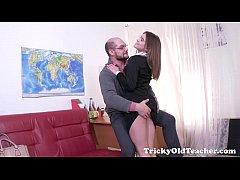 Tricky Old Teacher - Karolin drops her panties
