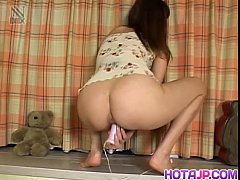 Milf Kaori plays with toys on her pussy