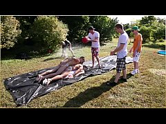 GAYWIRE - Frat Boy Field Day Hazing Event For The New Recruits