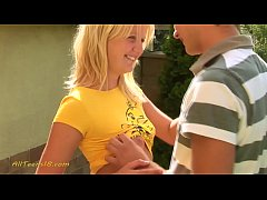 young blond girl in love with schoolmate