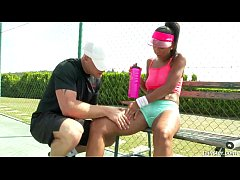 Isabella Chrystin Tennis Court Pounding 2015