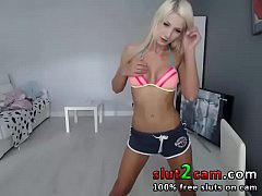 Fitness Blonde Babe Squirting Hard - WWW.SLUT2CAM.COM