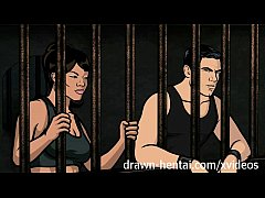 Archer Hentai - Jail sex with Lana