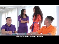 DaughterSwap - Horny Latina Teens Having an Orgy