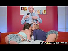 Brazzers - Pornstars Like it Big - Game Night Shenanigans scene starring Nicole Aniston Peta Jensen