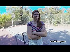 Outdoor pov fuck at the tennis court