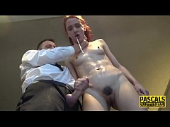 Skinny submissive pounded