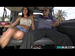 Threesome on the 305Bus with Rachel Starr and a random latina babe 2.1