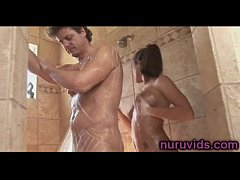 Hot shower with Lizz Taylor