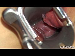 Violeta's orgasms with a speculum in her vagina