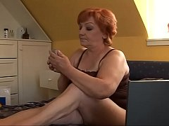 The old bitch gets fucked by her son #2