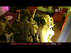 FRENCH amateur Hidden cam in a swinger club! part 11