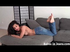 Stroke your hard cock to my skin tight jeans JOI
