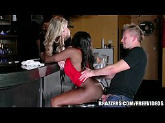 HD Brazzers - Ebony and ivory, anal threesome