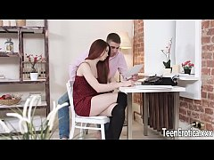 HD Redheaded Hottie Lovenia Lux Sucks and Fucks Her Boyfriend