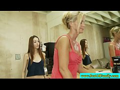 Stepmom teaches stepdaughter how to suck