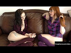 Ginger Bush Lesbo Penny Pax Finger Fucks Young Kendra Cole!