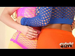 Hottest Lesbian scene dressed in Neon with Penny Pax &amp_ Abigail Mac