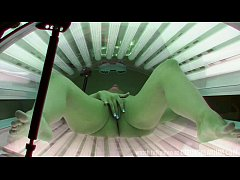 HD First Hidden Cam in PUBLIC SOLARIUM Worldwide