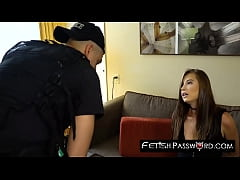 Carolina Sweets dominated by officers cum smeared big cock