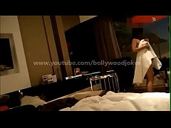 Newly wed Indian Wife desi dare in hotel enf Towel drop teasing room service boy