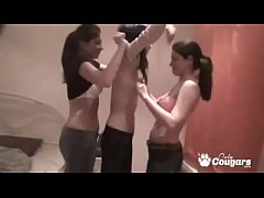 3 Teens At a Slumber Party Decide To Have A Lesbian Orgy & Film It!
