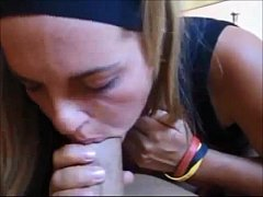 Gorgeous amateur gets fucked on homemade
