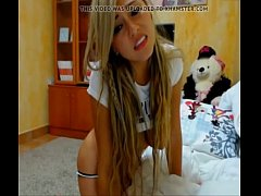 rubia colombiana en la webcam