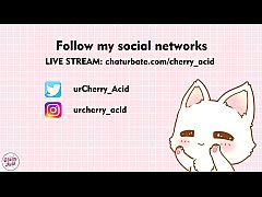 cherry acid make a blowjob and get cum on face camgirl