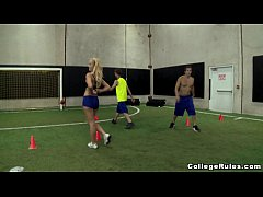 young teens play strip dodgeball on college rules cr12385