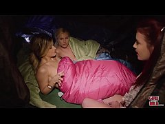 GIRLSGONEWILD - Lesbians In A Tent, Naked In A Sleeping Bag