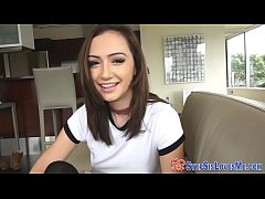 Amateur stepteen rubs pov