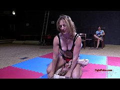Real femdom mixed wrestling