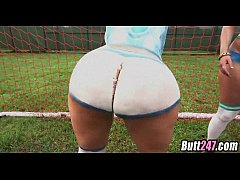 Painted soccer asses