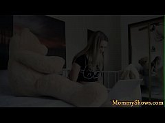 Smalltits stepdaughter pleasured by a milf