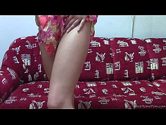 Heavenly teen babe plays with her favorite toy