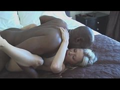 beautiful blonde milf fucking with bald black guy