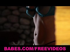 Sexy fit brunette Julis Luba shows off her body