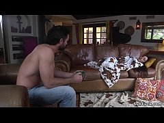 Sexy brunette babe Whitney Wright found sleep after her car was broken but at night master Charles Dera tied up her and then gagged with huge dick