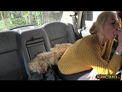 Damn sexy Dutch lady tries anal sex in taxi to get a free ride