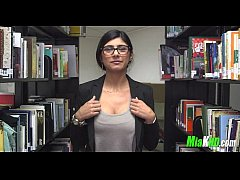 Mia Khalifa plays in the library 3 92