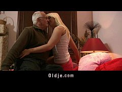 Long time no fucking grandpa stiffs his old cock in teen wet pussy