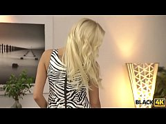 BLACK4K. Blonde girl knows huge dick can't be replaced by a vibrator