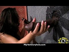 Gloryhole blowjob interracial amateur 18