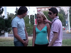 Cute blonde girl hard street PUBLIC fuck broad ...