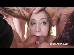 7on1 Double Anal GangBang Selvaggia, Sperma Party with 7 swallows