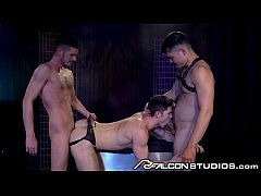 FalconStudios Devin Franco DP'd Bareback In A Sex Club