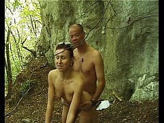 Girl fucked in the forest by two different men