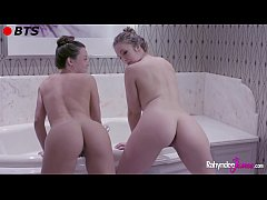 Rahyndee James and Lena Paul Lesbian Bath BTS